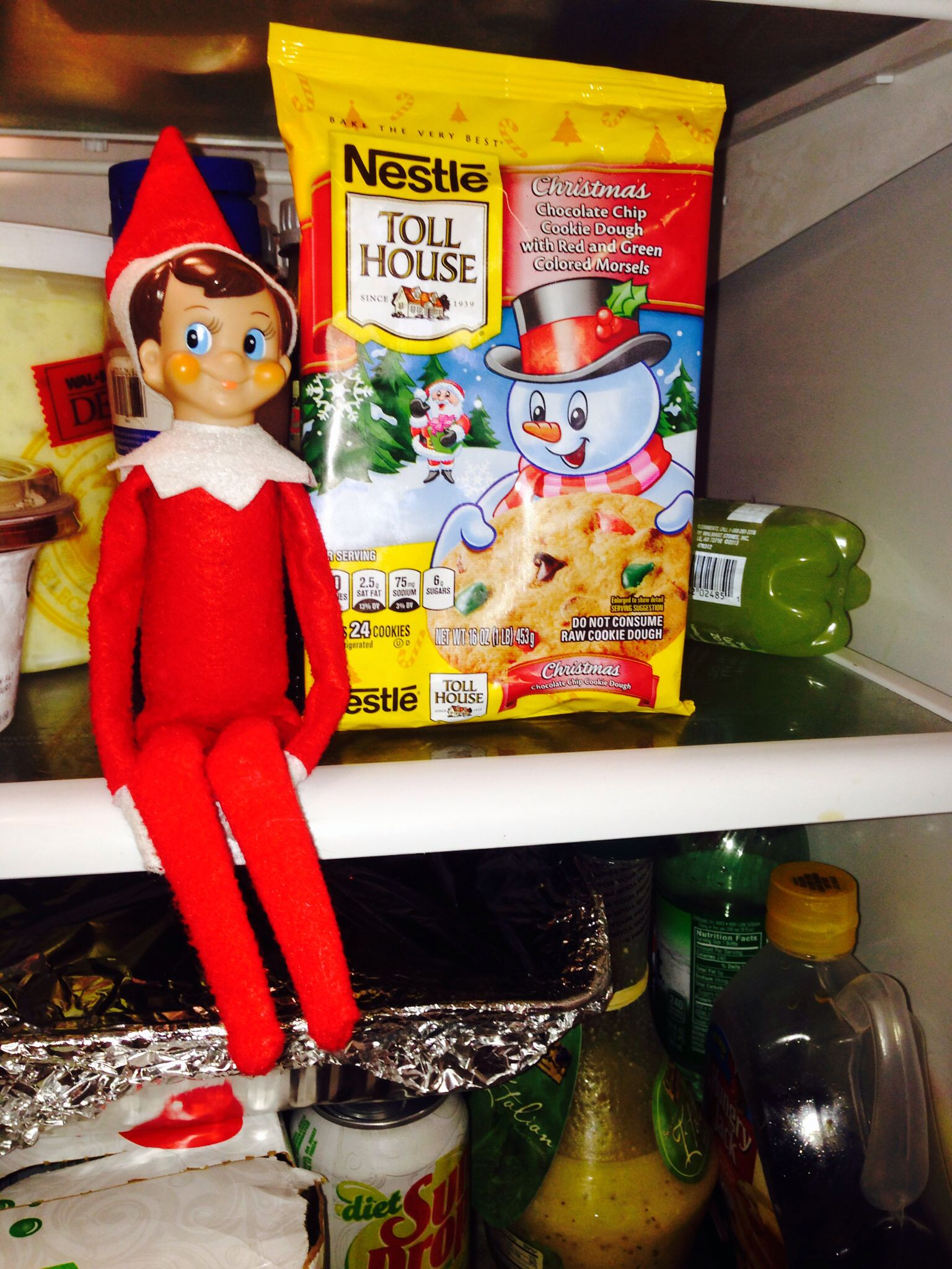 Elf on the shelf ideas last day (Christmas Eve) elf doesn't need magic to fly to North Pole ...