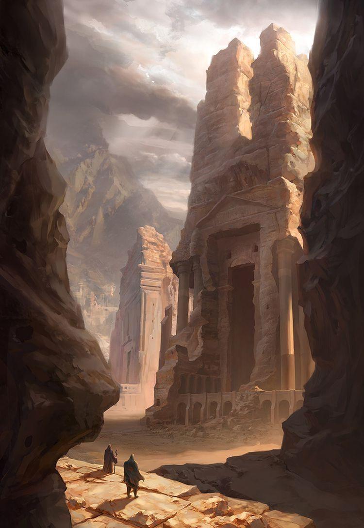 Another Desert Temple Paysage Fantastique Paysage Futuriste Paysage Imaginaire