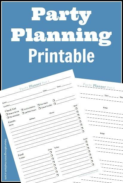 FREE Party Planning Worksheet Party planners, Planners and Party - free party planner template