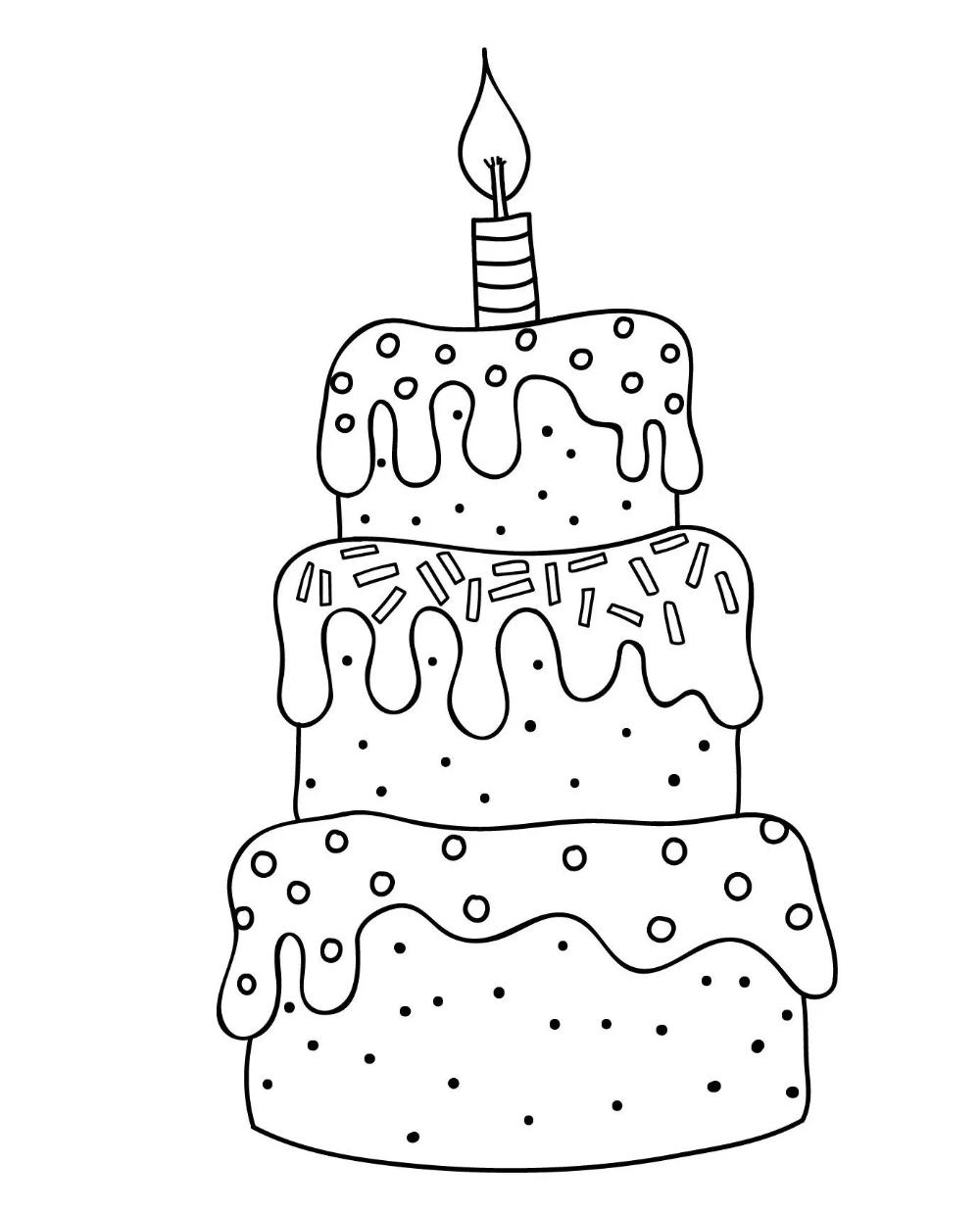 12 Desenhos De Bolo De Aniversario Para Colorir E Imprimir Online Cursos Gratuitos Em 2020 Desenho De Bolo Cupcake Desenho Pintura Para Criancas
