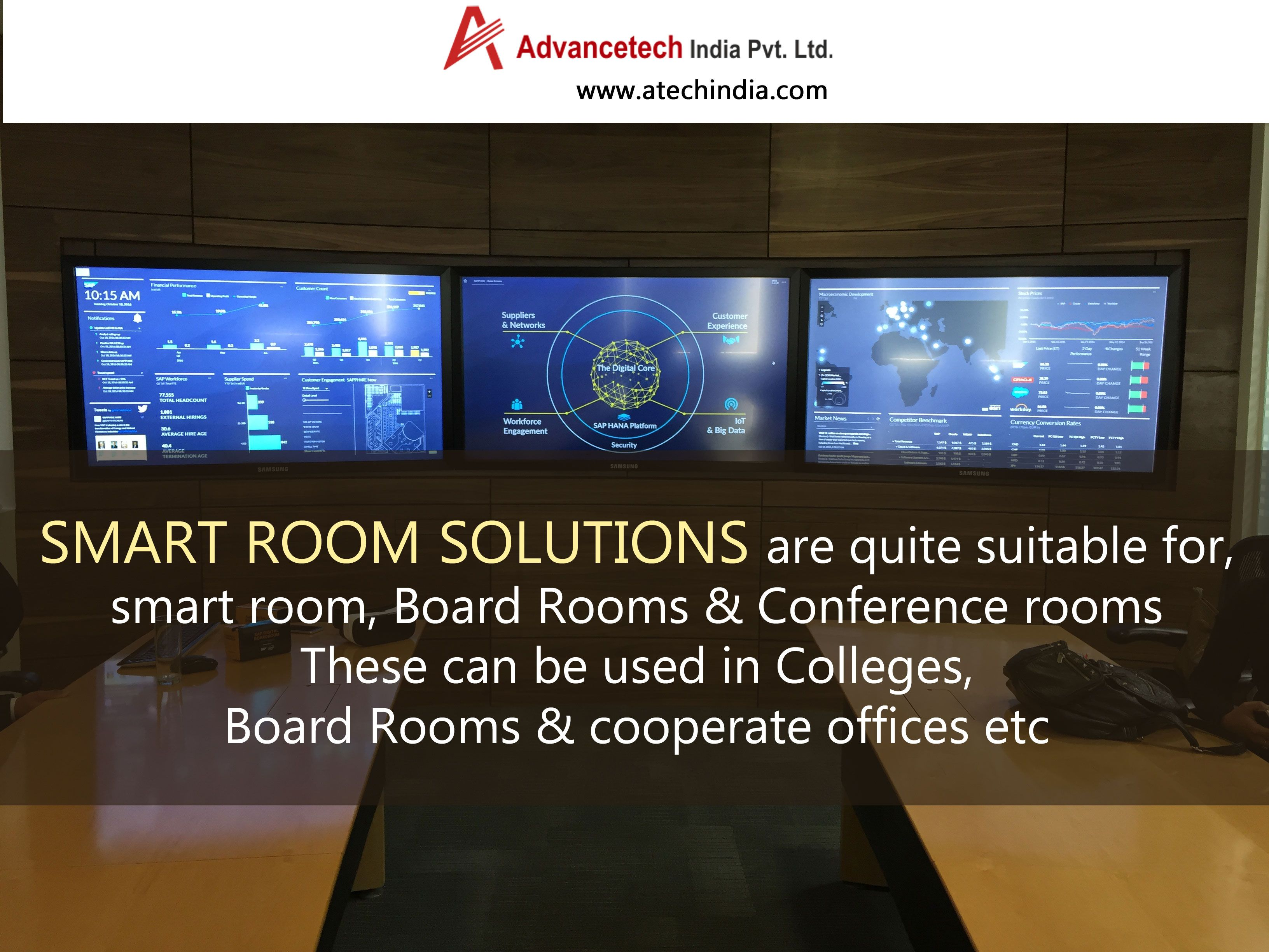 Advance Technology offers smart room solutions that are