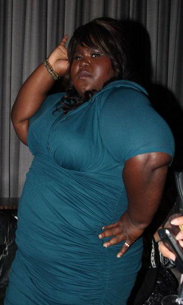 robe de cocktail grande taille: Superstar---Gabourey Sidibe