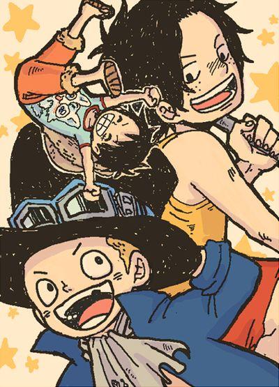 ワンピースサイト過去log エース サボ ルフィ ワンピース 絵 漫画