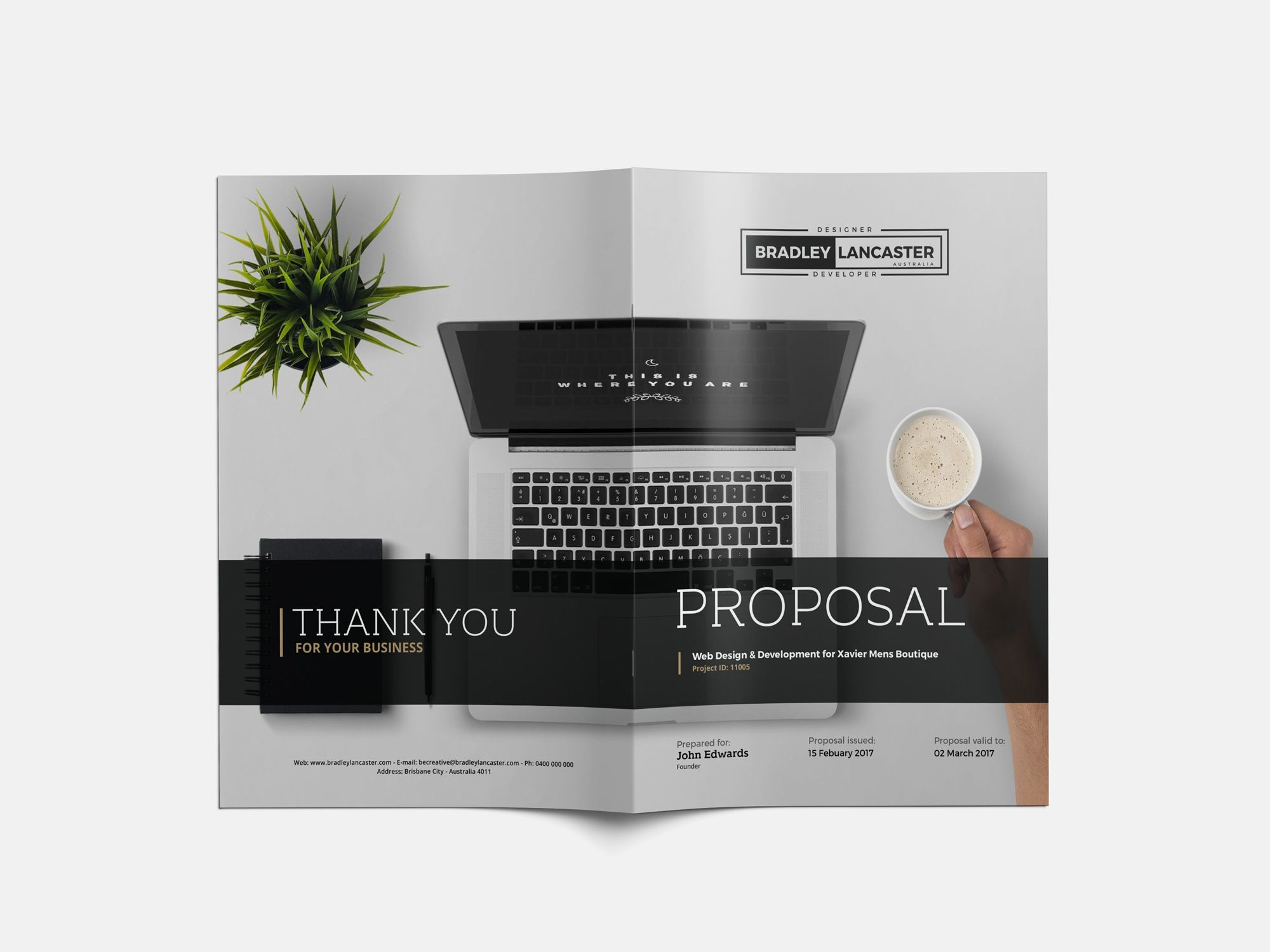 website development proposals