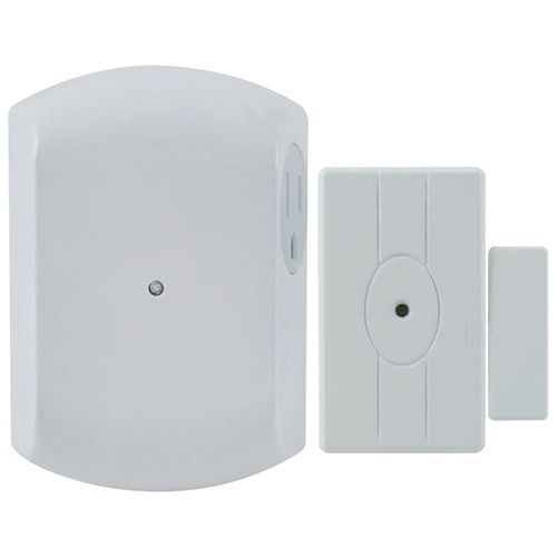 GE 12752 Wireless Door-Entry Light Control Magnet Sensor with 1 Indoor Grounded Outlet Receiver