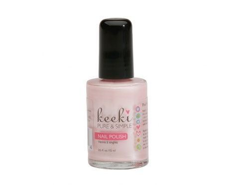 Shimmery Light Pink  Keeki™ Nail Polish is 100% Biodegradable and different than traditional nail polish.  Because of it's water-based Non-Toxic formula it does not have a toxic smell like others.  We never test any of our products on animals because there is simply no need to!
