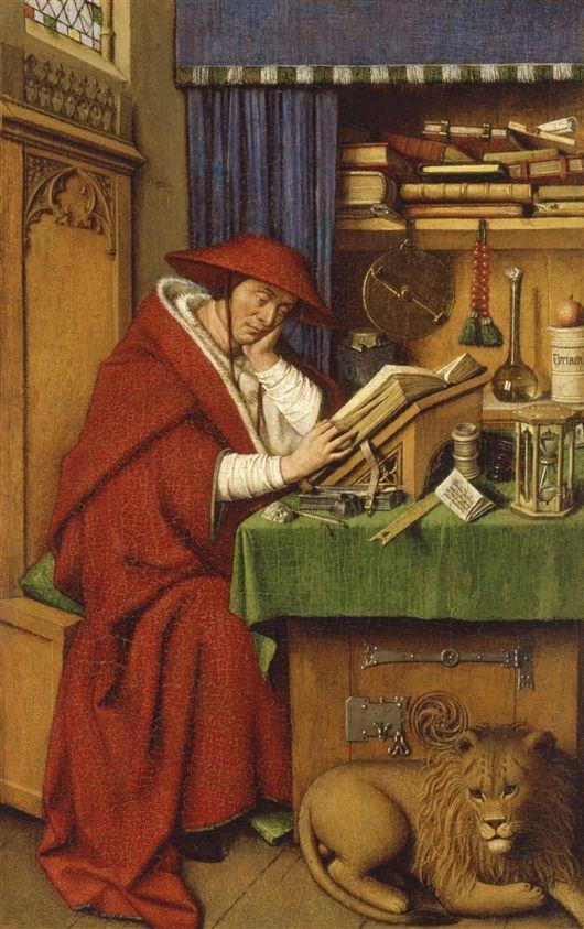 Saint Jerome In His Study Jan Van Eyck The Detroit Institute Of Arts
