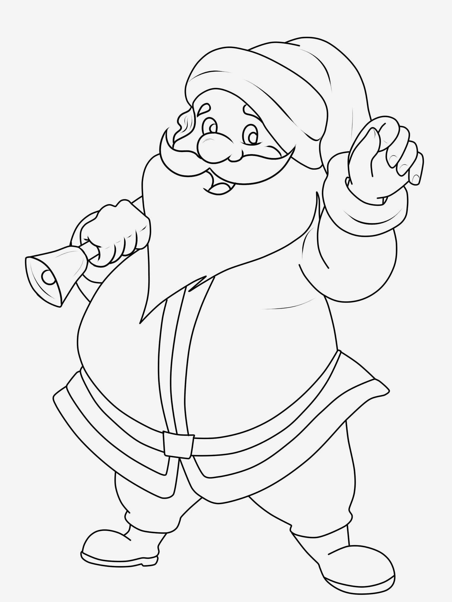 Weihnachtsmann Zum Ausmalen – Ausmalbildpilz ...