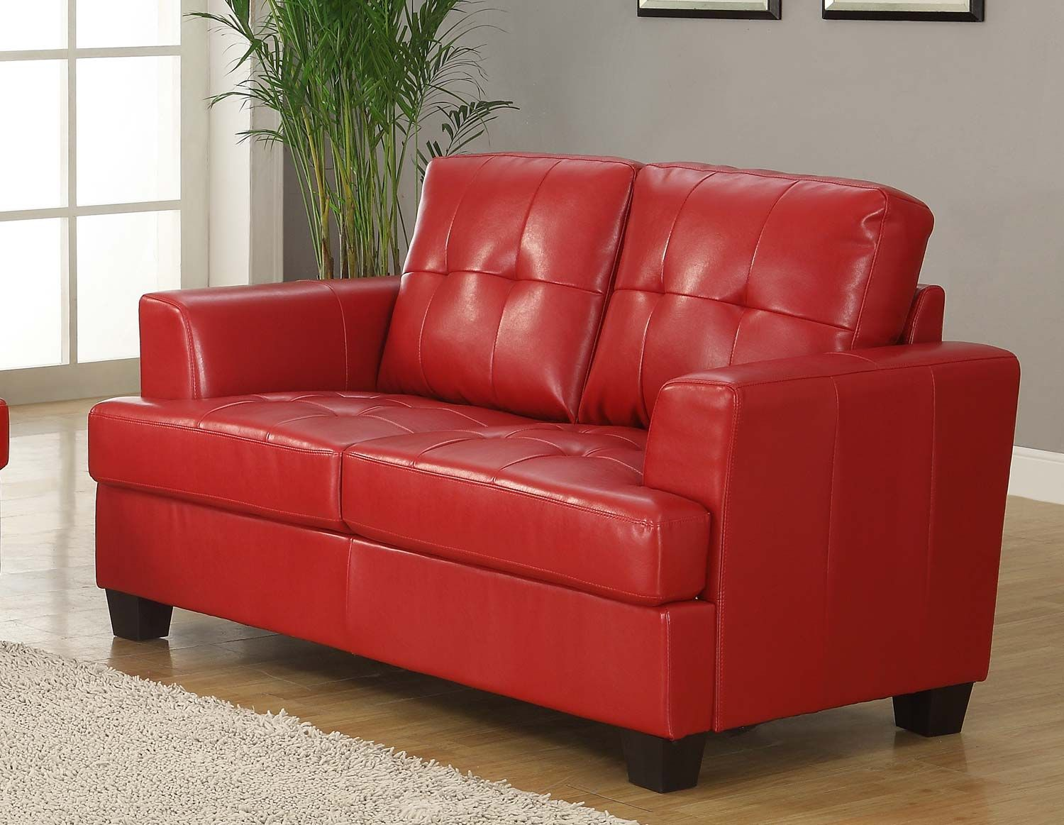 real sofa small estate photo loveseats at bedroom loveseat red for