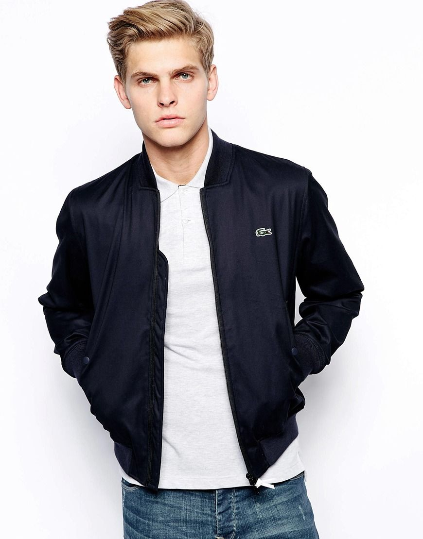 new products 272e3 15797 Lacoste Live Bomber Jacket | Fashion | Preppy mens fashion ...