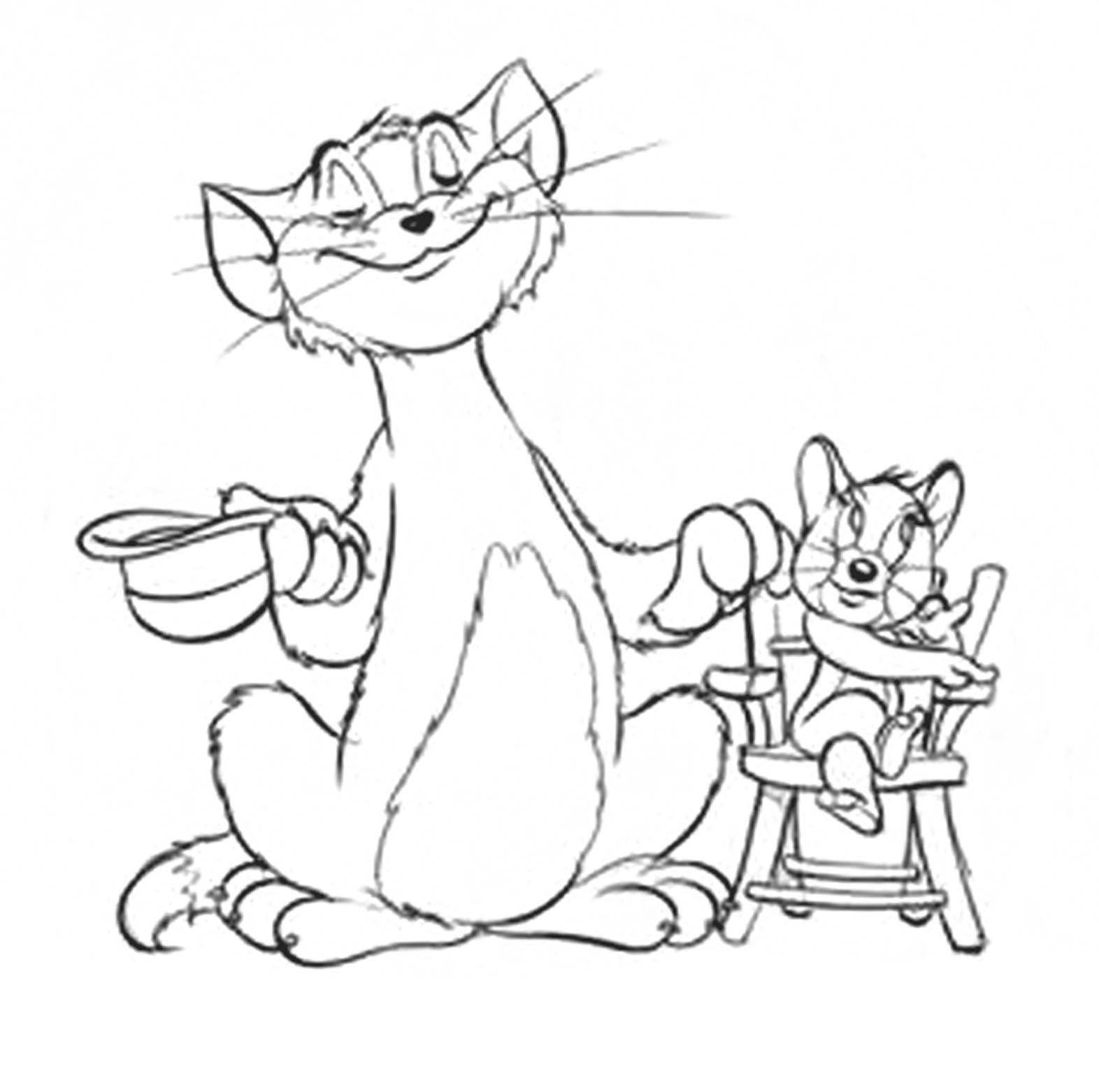 Tom and Jerry Line art for coloring | Coloring Sheets | Pinterest