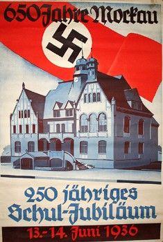 Teutoburger Münzauktio ... Medaillen Drittes Reich Plakat 1936 zum 250j. Schuljubiläum und 650j