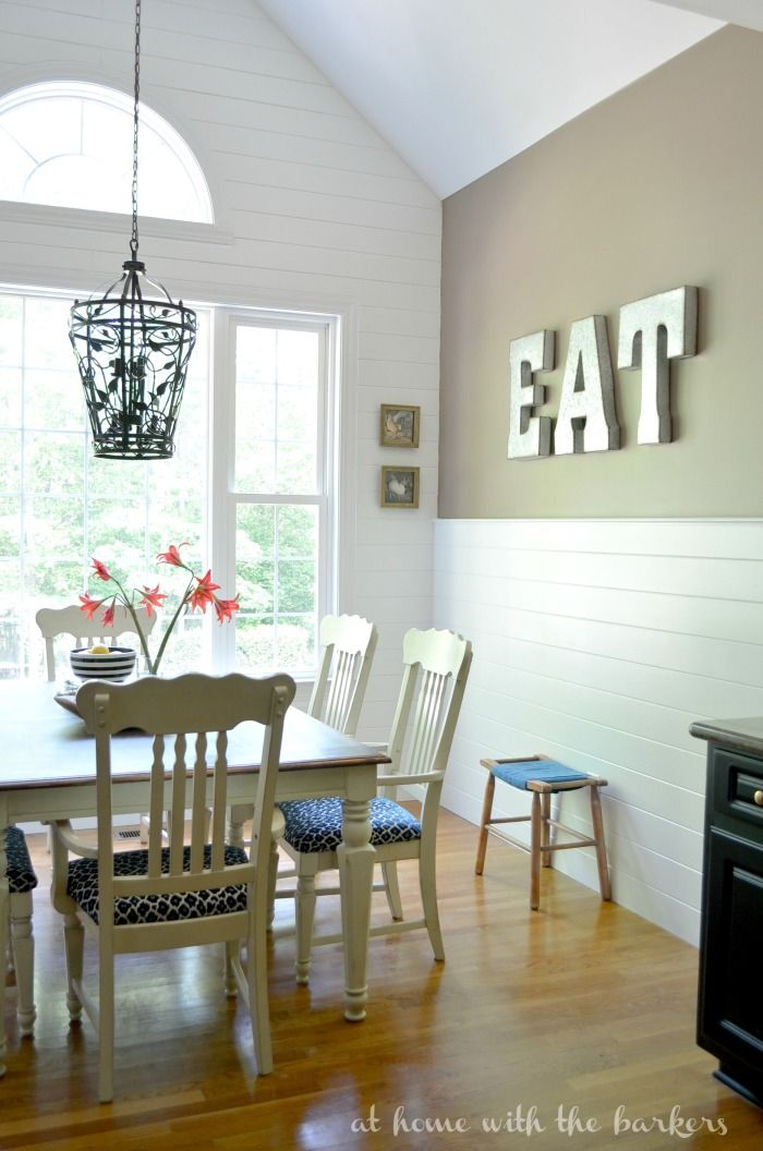 This Plank Wall Made Such A Statement In Kitchen Makeover DIY Project That Was Well Worth It