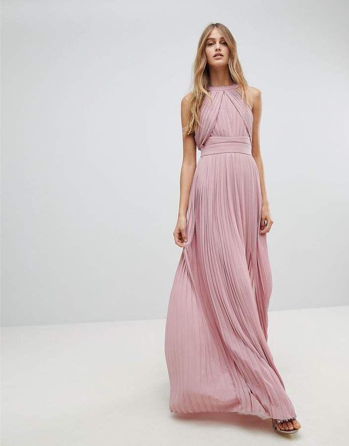 679e97dbadb2 TFNC WEDDING Pleated Maxi Dress