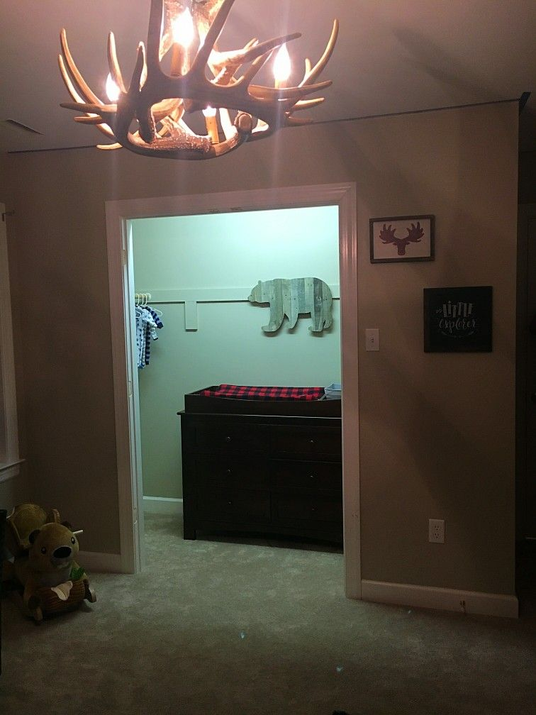 Antler Chandelier Bedroom