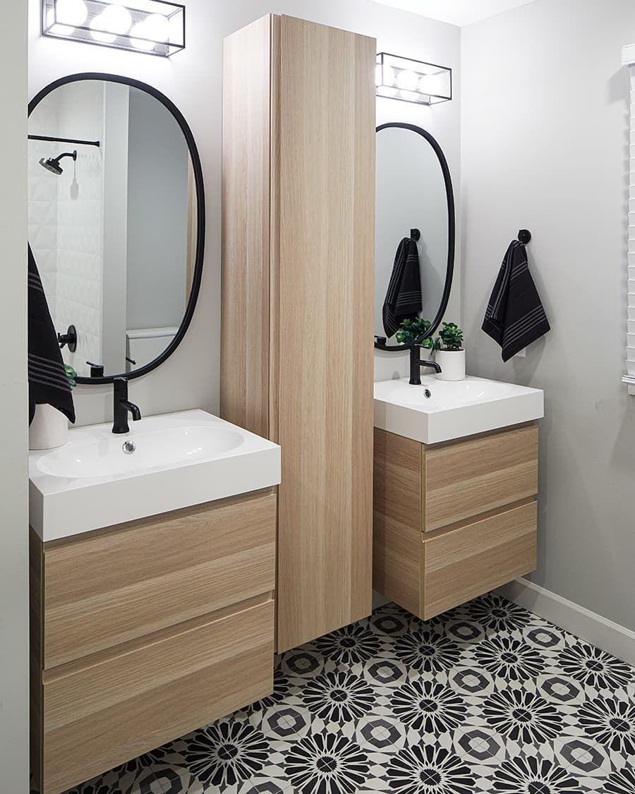 Patterned Tile Is One Of Our Favorite Bathroom Trends Bathroom Design Inspiration Bathroom Trends Bathroom Tile Designs