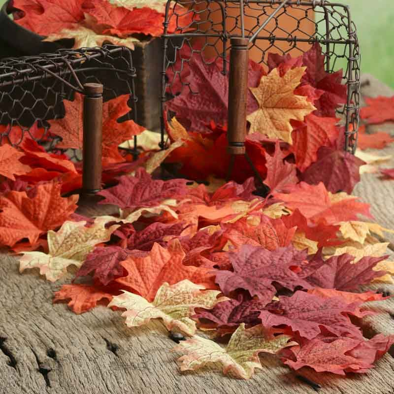 Assorted Realistic Fall Maple Leaves