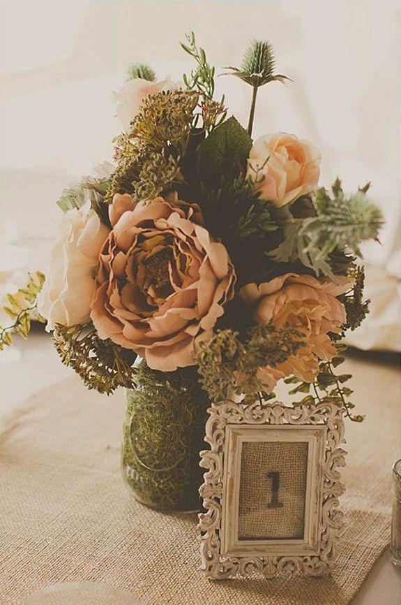 Matrimonio Rustico Elegante : Centro de mesa para boda rustico y elegante otros