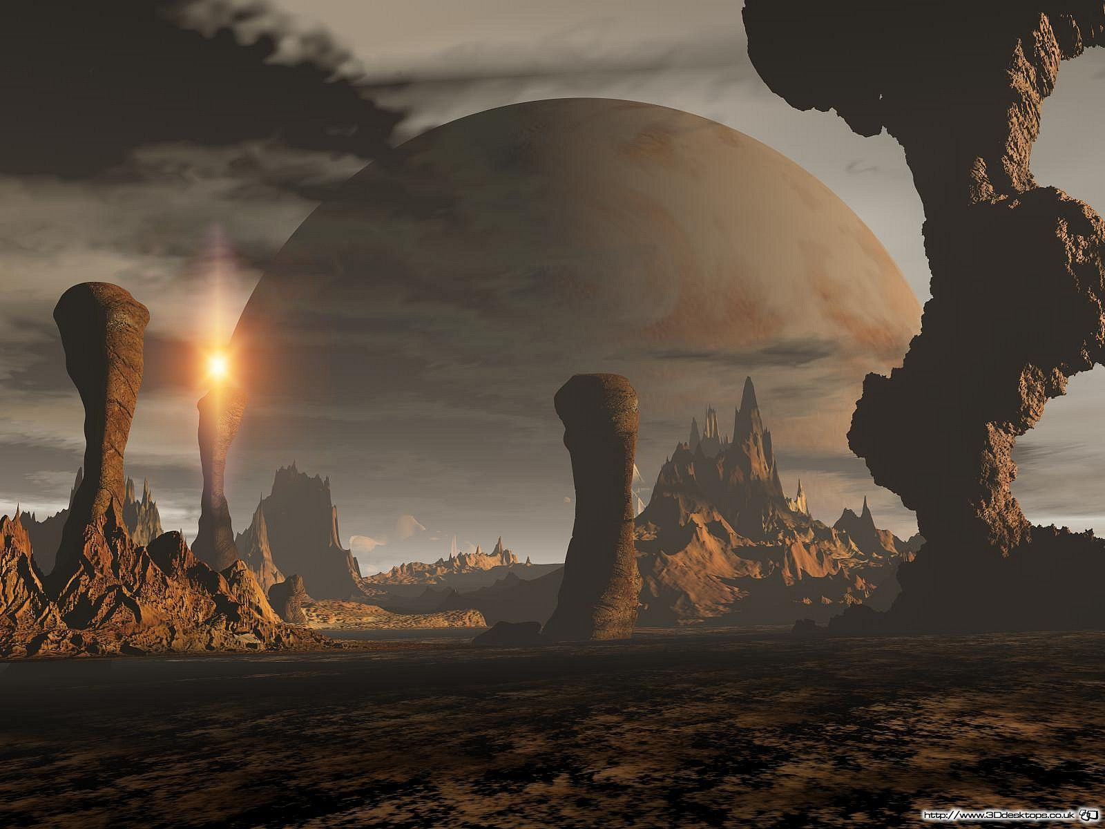 Distant planet moon 3d wallpaper digitalart fantasy - 3d fantasy wallpaper ...