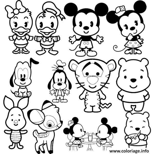 Coloriage Disney Cuties Tsum Tsum Dessin à Imprimer