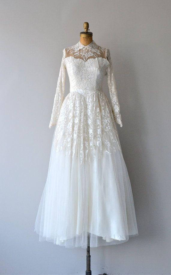 Valentina wedding dress vintage 1950s wedding dress by DearGolden