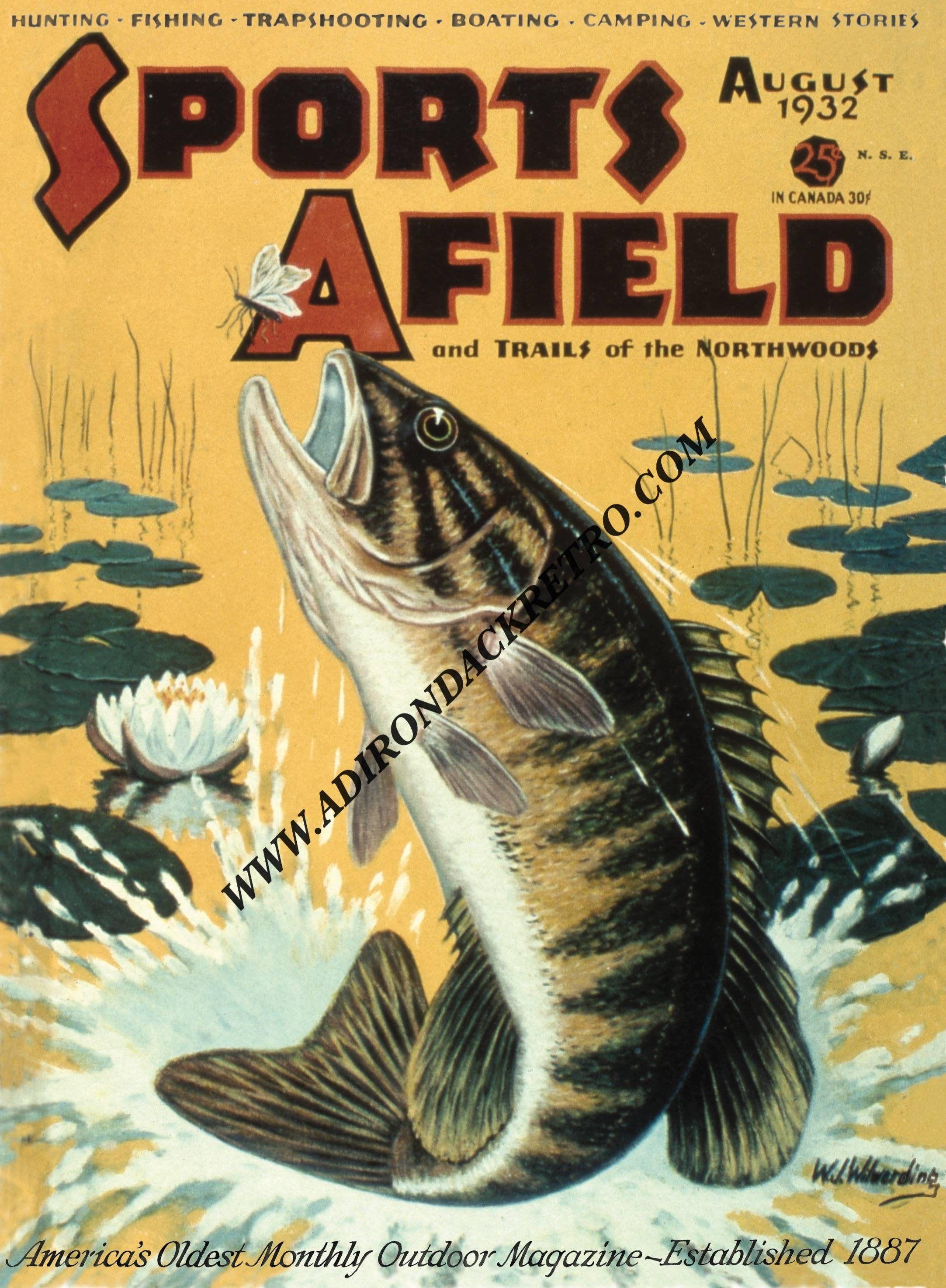 Bass Fishing Print - Vintage Fishing Lure Print - Fish Wall Art ...