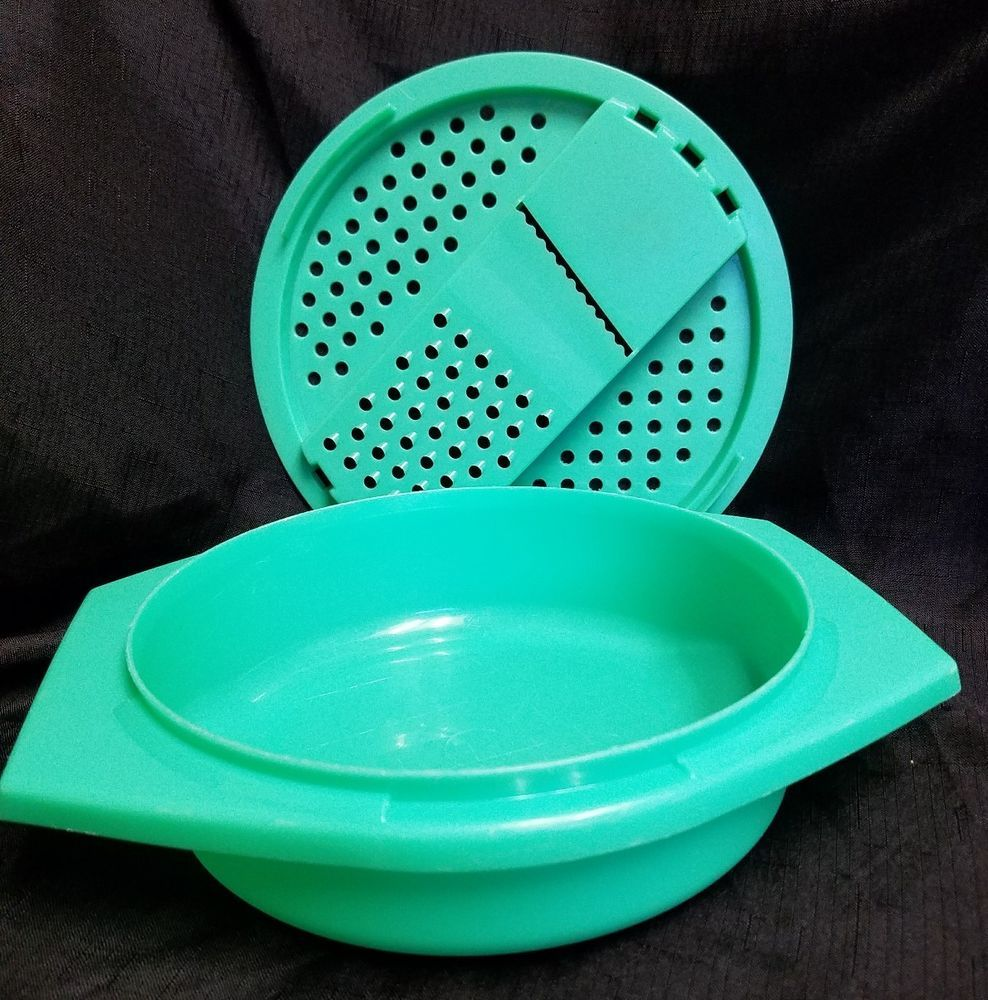 Vintage Tupperware 2pc Cheese Grater Slicer Bowl 787 4 786 8 Jadeite Green Tupperware Vintage Tupperware Tupperware Bowl