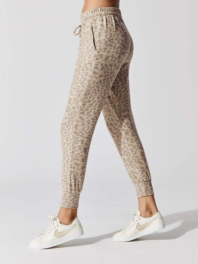 a5810e71f430 Pocket Jogger Pants Pocket Jogger Sweatpants in Sand Leopard Print by Sundry  from Carbon38