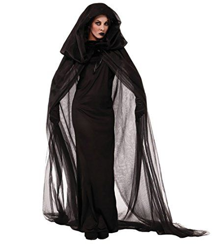 YiJee Adults Ghost Cosplay Dress Witch Costume Halloween ... //smile  sc 1 st  Pinterest & YiJee Adults Ghost Cosplay Dress Witch Costume Halloween ... https ...