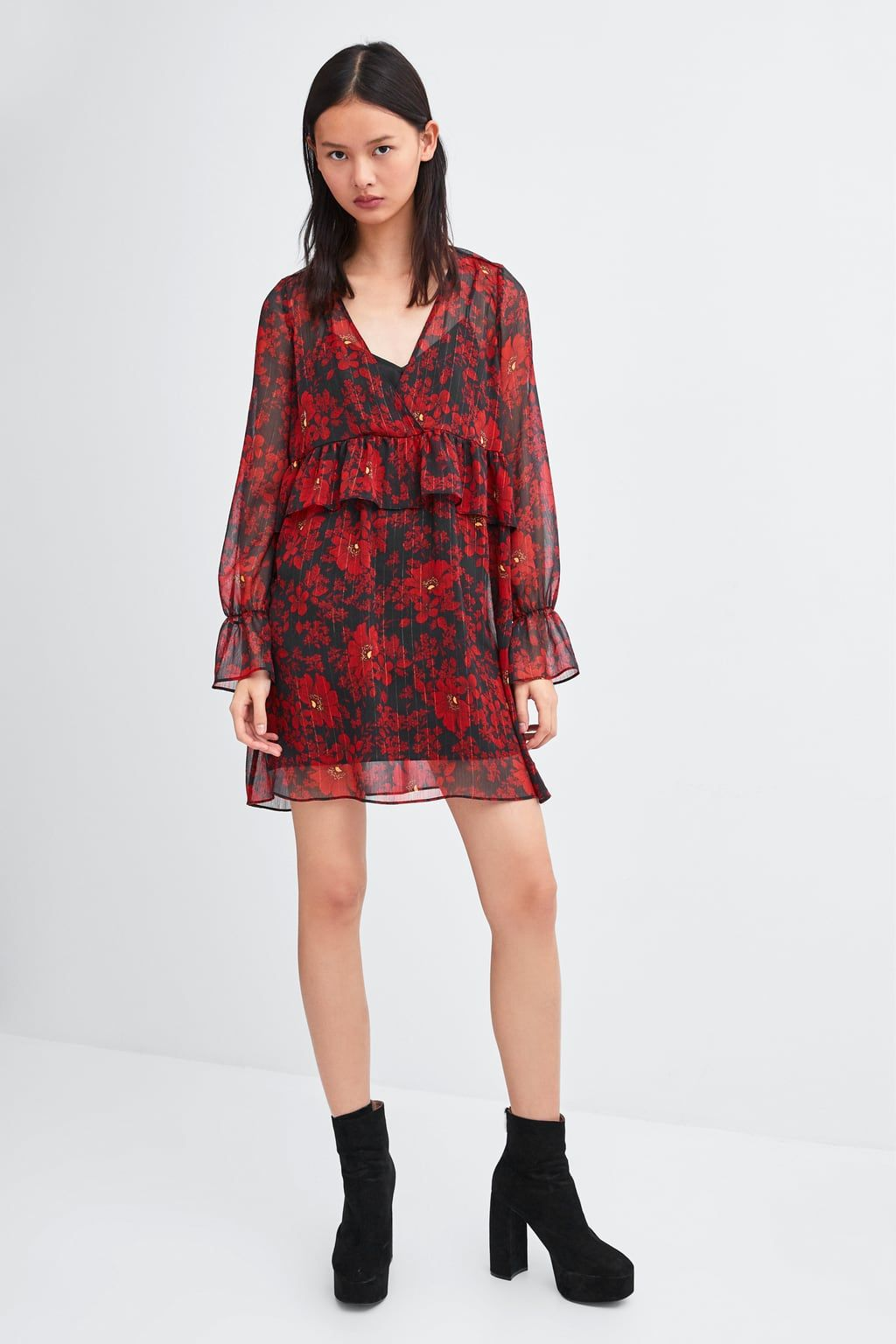 d320c01081262 Image 1 of FLORAL PRINT DRESS from Zara