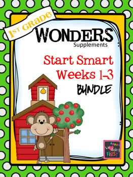 If you are already using or you are new to the Wonders Reading Program, this  181  page n Start Smart bundle is for you. You'll have three weeks worth of help with weekly lesson planning with common core numbers, printables for centers or word work activities, anchor charts, writing activities, high frequency word practice,  and much, much more.