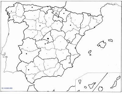 Mapa De Espana En Blanco Por Provincias Mapas De España Y Del Mundo Mapa De España Mapa Fisico De España Relieve España