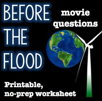 Before the Flood Movie Questions | 6-12 EnglishTeaching | Pinterest ...