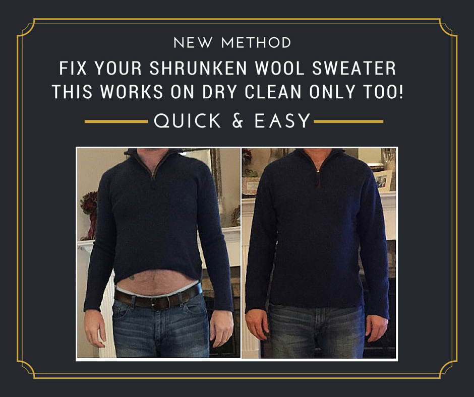 Shrunken Wool Sweater: How To Fix. Stretch Your Wool