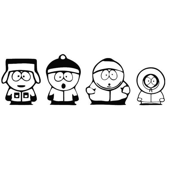 South Park Vinyl Wall Decal Vinyl Wall Decor Vinyl Decal Wall Decal Wall Stickers Vaggord Vaggtext Vaggde Decal Wall Art South Park South Park Characters