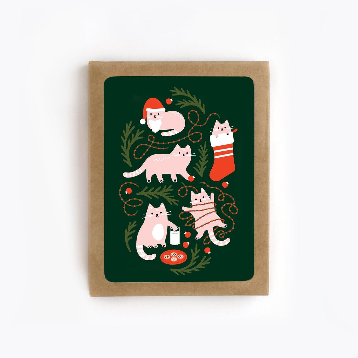 Cat christmas card set holiday card christmas cats pack