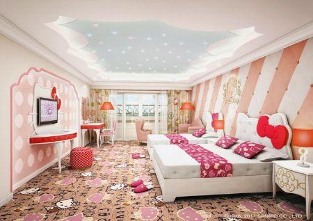 Hello Kitty Character Room Lotte Hotel Jeju Island Hello Kitty House Hello Kitty Rooms Childrens Bedrooms Luxury hello kitty pink room
