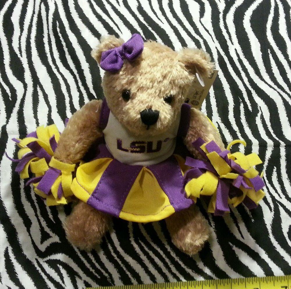 NCAA College Football Tigers LSU Cheerleader Talking Bear ~NEW #LSUTigers
