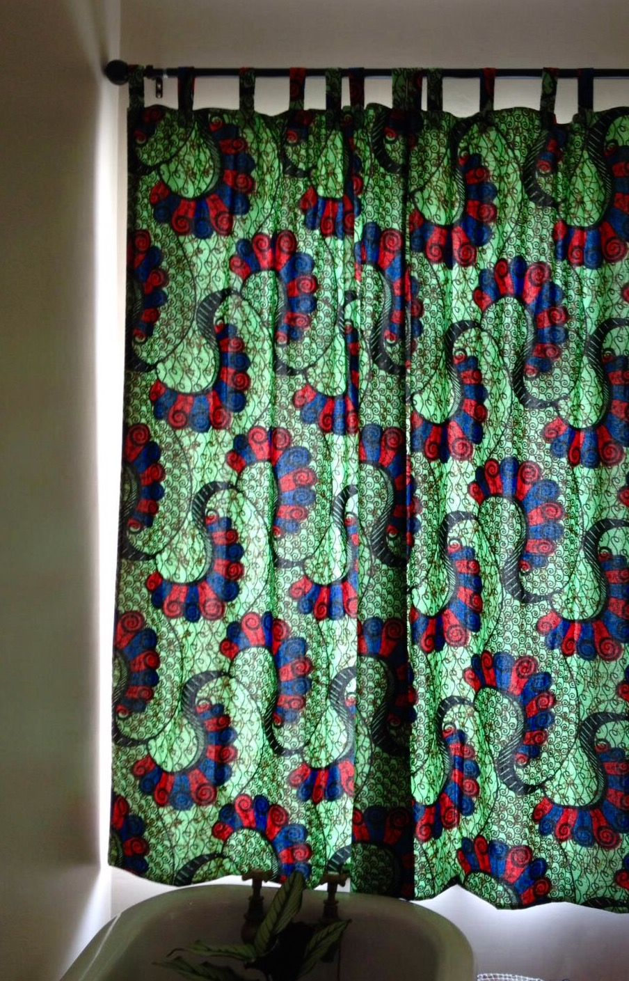 African Fabric Chitenge Bathroom Curtains African Inspired Decor African Home Decor Curtains
