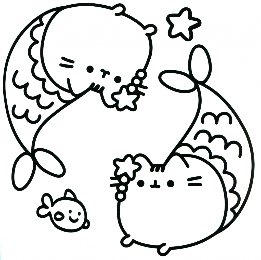 Pusheen Coloring Pages Mermaid coloring pages, Unicorn