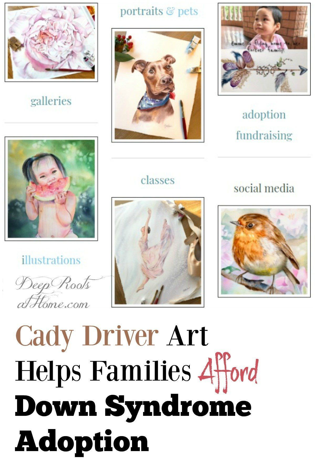 Cady Driver Art Helps Families Afford Down Syndrome Adoption. | watercolor childrens portraits | watercolor baby