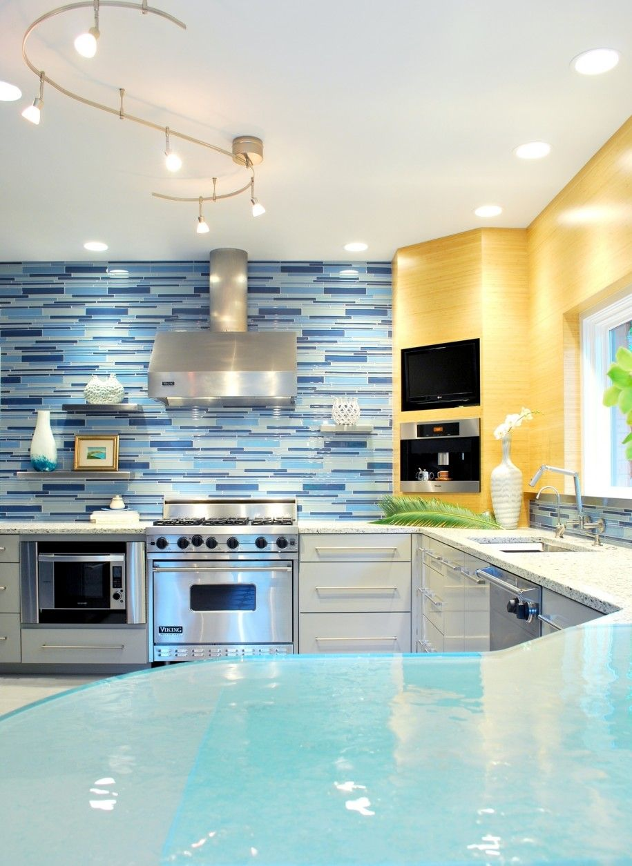 Ultimate Kitchen Interior Design With Designer Backsplash Pictures ...