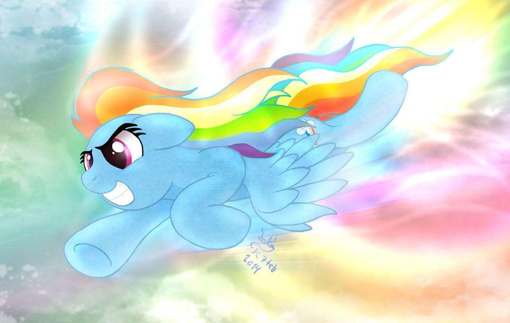 Mlp Fim Rainbow Dash Sonic Rainboom By Joakaha With Images