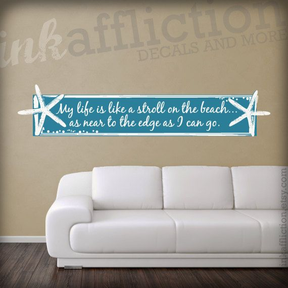 Custom Starfish Quote Wall Decal If I Only Had A Beach House To - How to put a decal on my wall