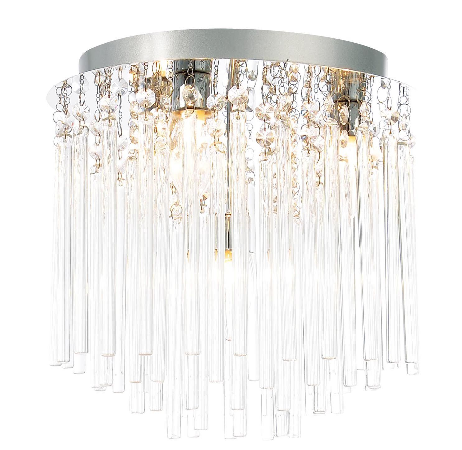 reputable site 69bea 70f53 Tooma Chrome Effect 4 Lamp Bathroom Ceiling Light | Bathroom ...
