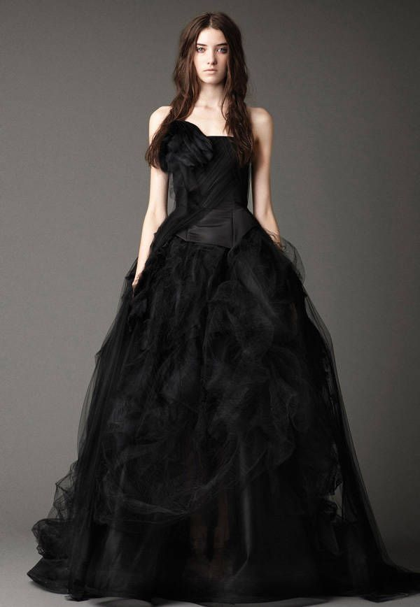What culture wears black wedding dresses