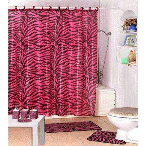 17 Pc Pink Zebra Bathroom Set For 23 99