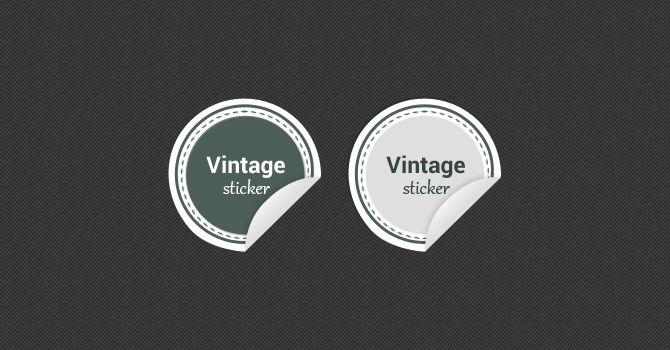 Vintage Stickers PSD
