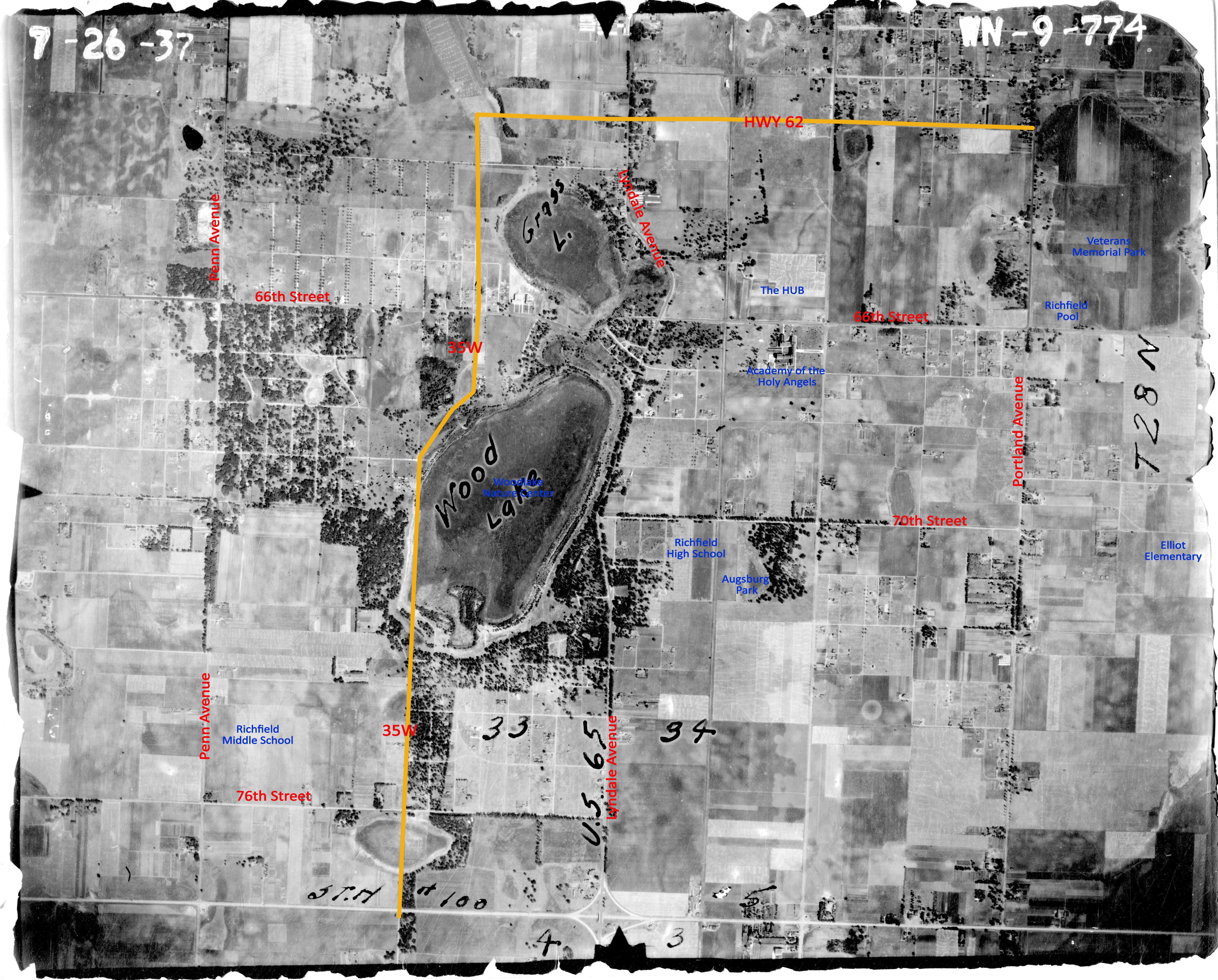 Found an old map of richfield mn circa 1937 and added