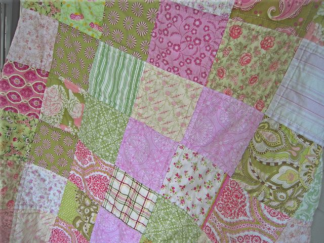 Pink and Green Patchwork by Lavenderfeather, via Flickr